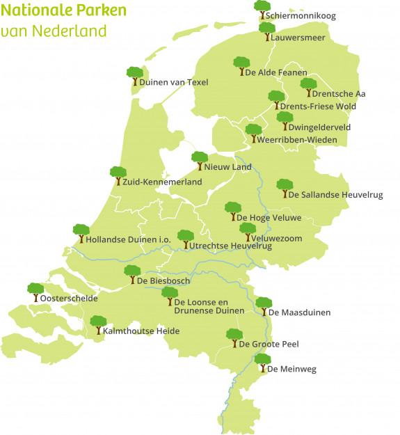 Overzicht van alle Nationale Parken in Nederland[9]